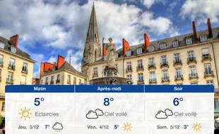 Météo Nantes: Prévisions du mercredi 2 décembre 2020