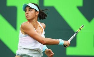 La Française Caroline Garcia en mars 2014 lors du tournoi de Key Biscayne.