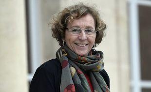 La ministre du Travail Muriel Penicaud quitte l'Elysée le 12 janvier 2018.