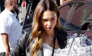 Jessica Alba le 14 octobre 2017 à Beverly Hills.