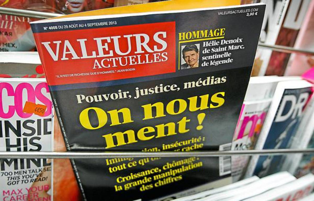 L'hebdomadaire de droite «Valeurs actuelles». – A. Gelebart / 20 Minutes