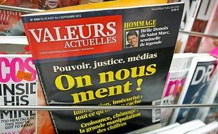 L'hebdomadaire de droite «Valeurs actuelles».