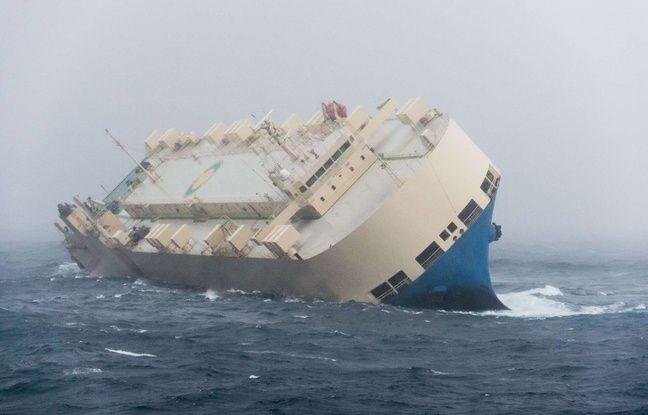 """Le """"Modern Express"""" est en difficulté depuis le mardi 26 janvier au large du golfe de Gascogne. Préfecture maritime de l'Atlantique."""