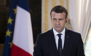 Emmanuel Macron à l'Élysée, le 3 juin 2017 à Paris.