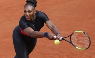 Serena Williams, lors du premier tour de Roland-Garros