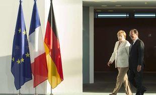 Angela Merkel et François Hollande le 23 août 2012 à Berlin.