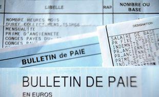 Un bulletin de paie (image d'illustration).