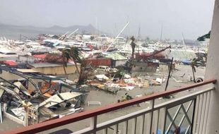 Les dégâts à Saint-Martin après le passage d'Irma.