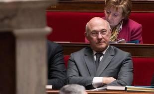 Le ministre du Travail MichelSapin, le 11 février 2014 à l'Assemblée.