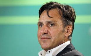 Jean-René Bernaudeau lors de la présentation de l'équipe Europcar, le 14 janvier 2011 à Paris.