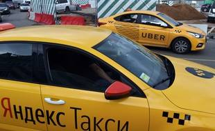 Un taxi à Moscou en Russie.