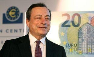 Le président de la BCE Mario Draghi, le 24 février 2015 à Francfort