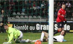 L'attaquant Pierre-Alain Frau a inscrit le deuxième but lillois hier soir.