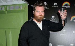 Ryan Dunn, l'un des membres de Jackass, lors de la soirée pour la sortie du DVD aux Studios Paramount, le 7 mars 2011, à Los Angeles.