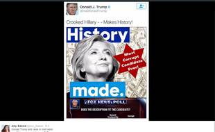 L'image postée samedi 2 juillet par Donald Trump a été supprimée depuis et remplacée.