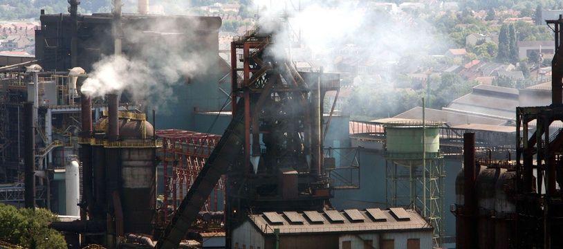 Les hauts-fourneaux d'ArcelorMittal à Florange, en 2012.