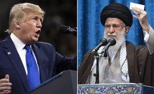 Donald Trump et l'ayatollah Ali Khamenei (photomontage)