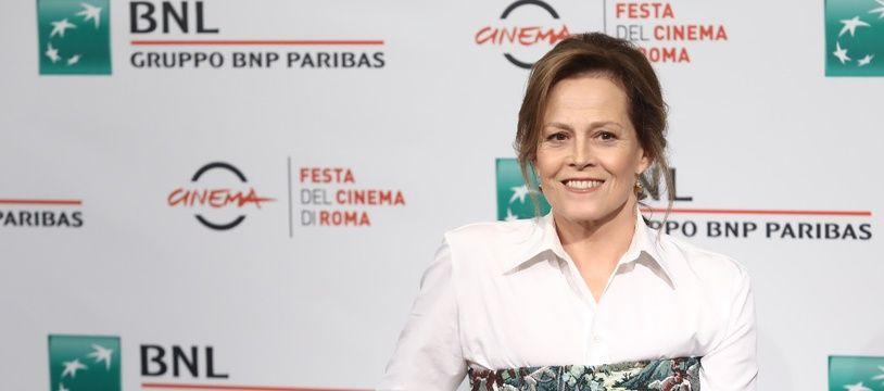 L'actrice Sigourney Weaver au Festival du film de Rome en 2018
