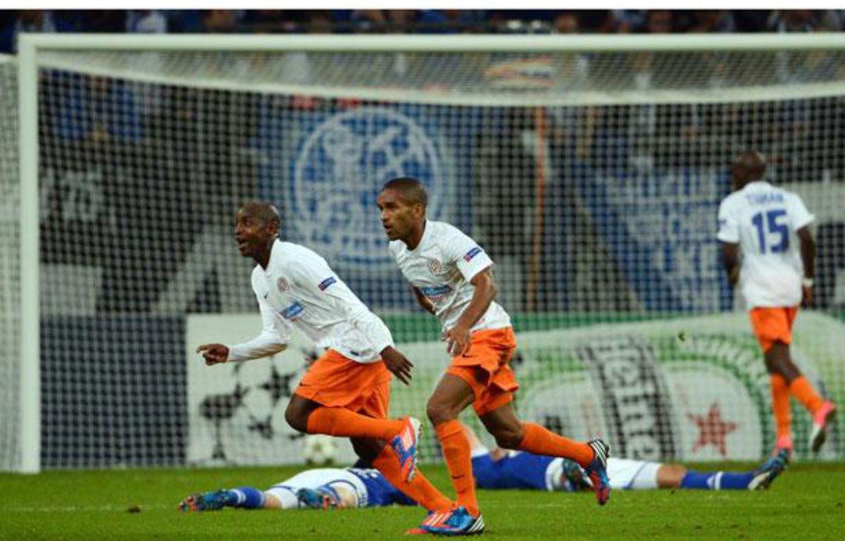 Souleymane Camara égalise contre Schalke 04 en Ligue des champions (2-2), le 3 octobre 2012 à Gelsenkirchen. – JOHANNES EISELE / AFP