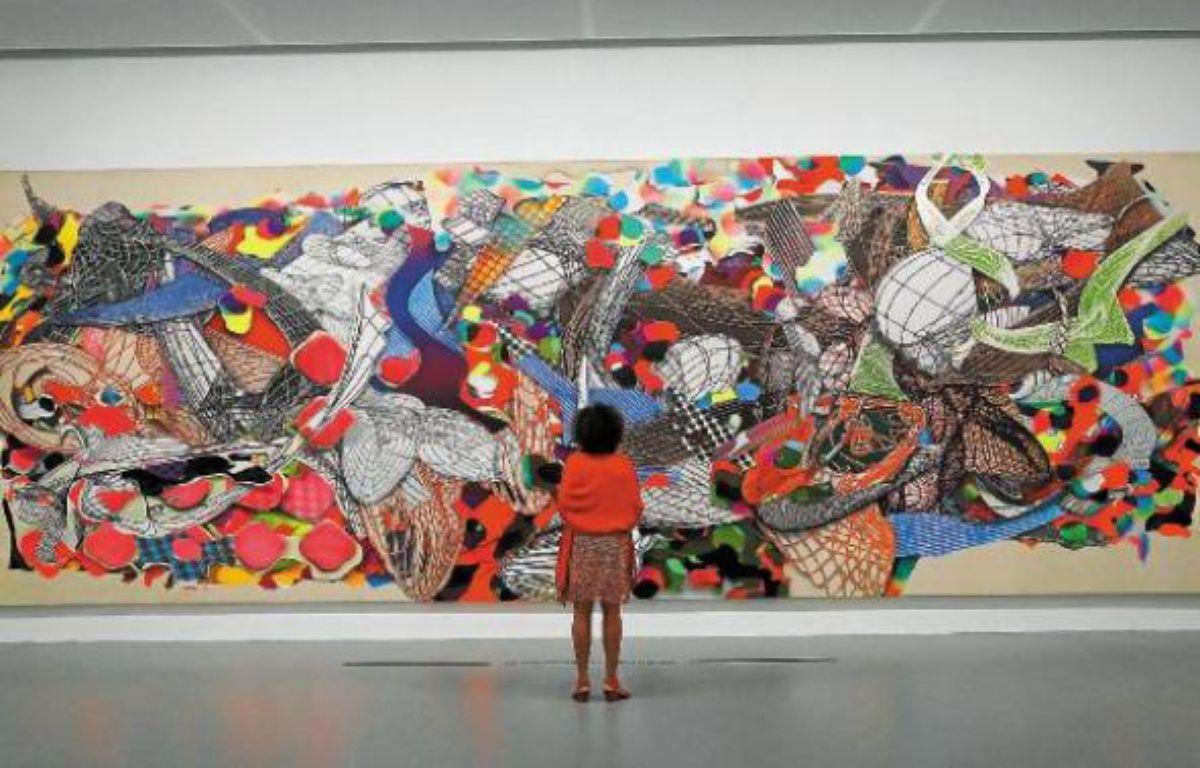 « Polombe », l'oeuvre de Franck Stella, fait plus de 3 mètres sur 9 mètres. –  J.C. VINAJ / ISOPRESS