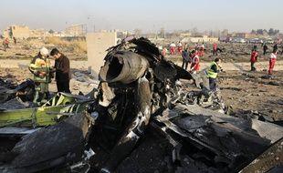 Les débris de l'avion ukrainien, le 8 janvier 2020 près de Téhéran.