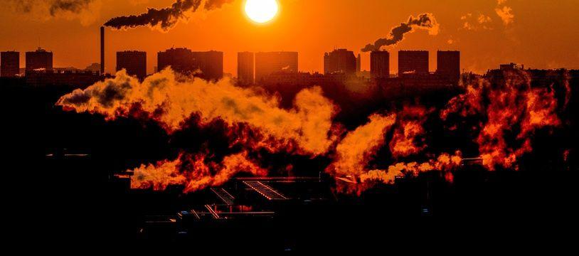 Illustration d'un épisode de pollution de l'air.
