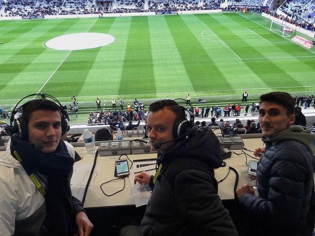 Jonathan Bothelo, Florian Lafon et Lucas Aizpurua (de gauche à droite) lors de TFC - PSG le 31 mars 2019.