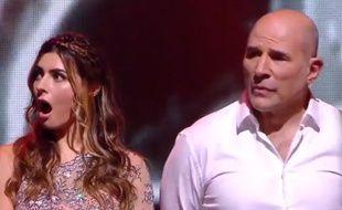 Candice Pascal surprise de rester en course avec Vincent Moscato dans «Danse avec les stars», lors du deuxième prime de l'émission, le 7 octobre 2018.