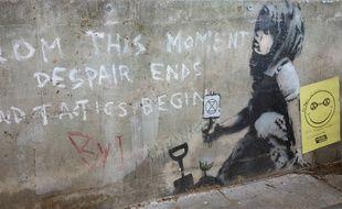 L'une des dernières œuvres de Banksy; trouvée en avril dernier à Londres