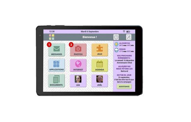 Tablette tactile pour senior FACILOTAB L