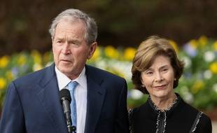 George W. Bush et Laura Bush.