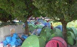 Le camp de migrants de Daviais, à Nantes
