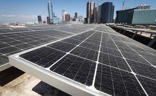 Des panneaux solaires à Los Angeles, le 4 septembre 2018.