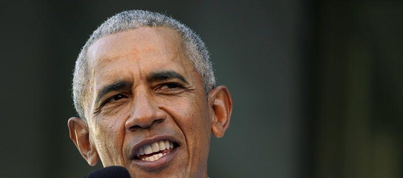 Barack Obama lors de son discours à Richmond, le 23 octobre 2021.