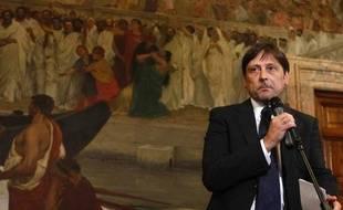 Dario Stefano, président de la commission parlemantaire ayant statué sur le sort de Berlusconi le 4 octobre 2013 à Rome