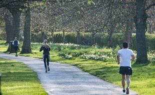 Des joggeurs à Londres. (Illustration)