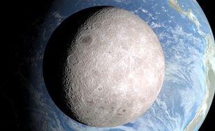 Images de la face cachée de la Lune par le LRO de la Nasa, février 2015.
