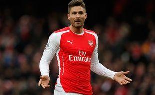 L'attaquant français d'Arsenal Olivier Giroud, le 1er février 2015.