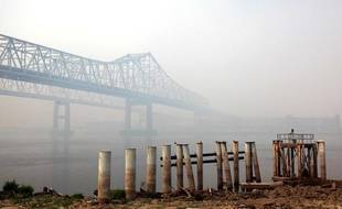 Pollution atmosphérique à La Nouvelle Orléans, en août 2011.