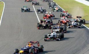 L'Allemand Sebastian Vettel (Red Bull) a remporté dimanche le Grand Prix du Japon, 15e manche du Championnat du monde de Formule 1, devant le Brésilien Felipe Massa (Ferrari) et le Japonais Kamui Kobayashi (Sauber), sur le circuit de Suzuka.