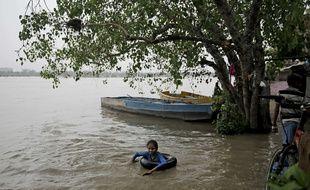 La rivière Yamuna est en crue à New Delhi en raison de la mousson.