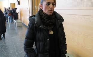 Hoda Sanz, le 14 janvier 2015, au Palais de justice de Toulouse.