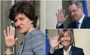 Sylvie Goulard, Richard Ferrand et Marielle de Sarnez, trois ministres du gouvernement Philippe 1.