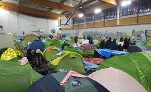 L'ancien gymnase Jeanne-Bernard, à Saint-Herblain, est occupé par des migrants depuis octobre.