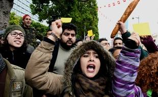 Scène de manifestation à Tunis, le 12 janvier 2018.