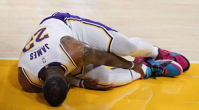 NBA : LeBron James sévèrement blessé à la cheville droite