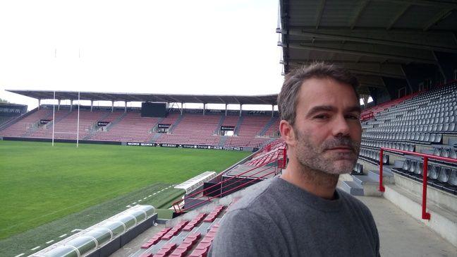 Jacques-Olivier Barthez, le responsable de la cellule communication du Stade Toulousain, le 26 septembre 2017 au stade Ernest-Wallon.