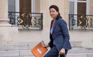 La ministre de la Santé Agnès Buzyn devant l'Elysée le 27 juillet 2017.