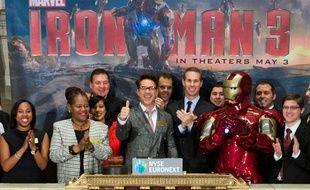 Robert Downey Jr ouvre la séance à la bourse de New York le 30 avril 2013