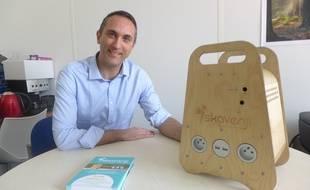 Gaël Desperriès planche sur sa box électrique depuis près de deux ans.